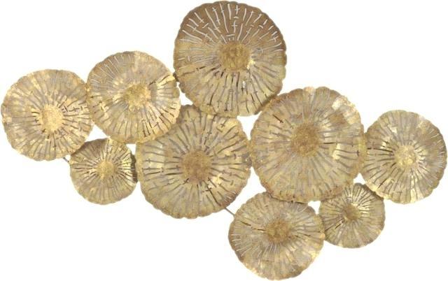 Gold Metal Wall Art Prepossessing Large Circles Wall Decor Gold In Gold Metal Wall Art (Image 5 of 10)