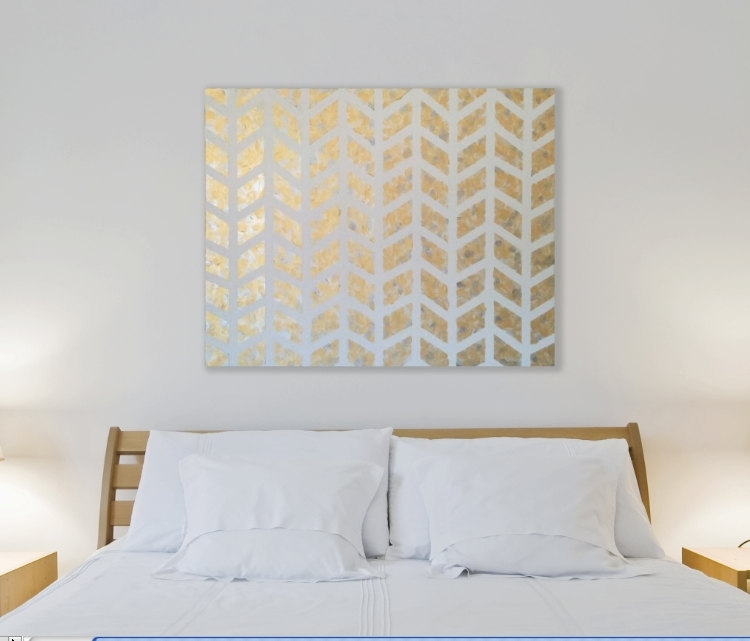 Gold Wall Decor Custom 10 Metallic Gold Wall Paint Design Ideas Best Inside Gold Wall Art (Image 4 of 10)