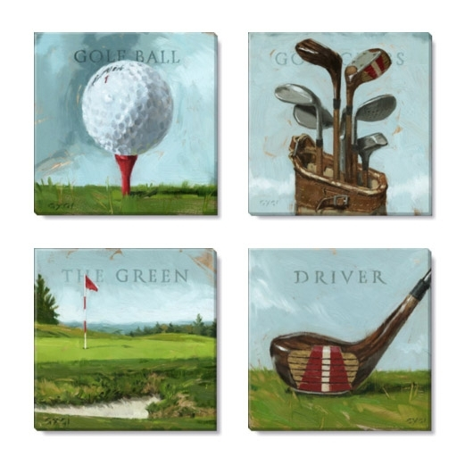 Golf Canvas Art Print Set Regarding Golf Canvas Wall Art (Image 7 of 10)