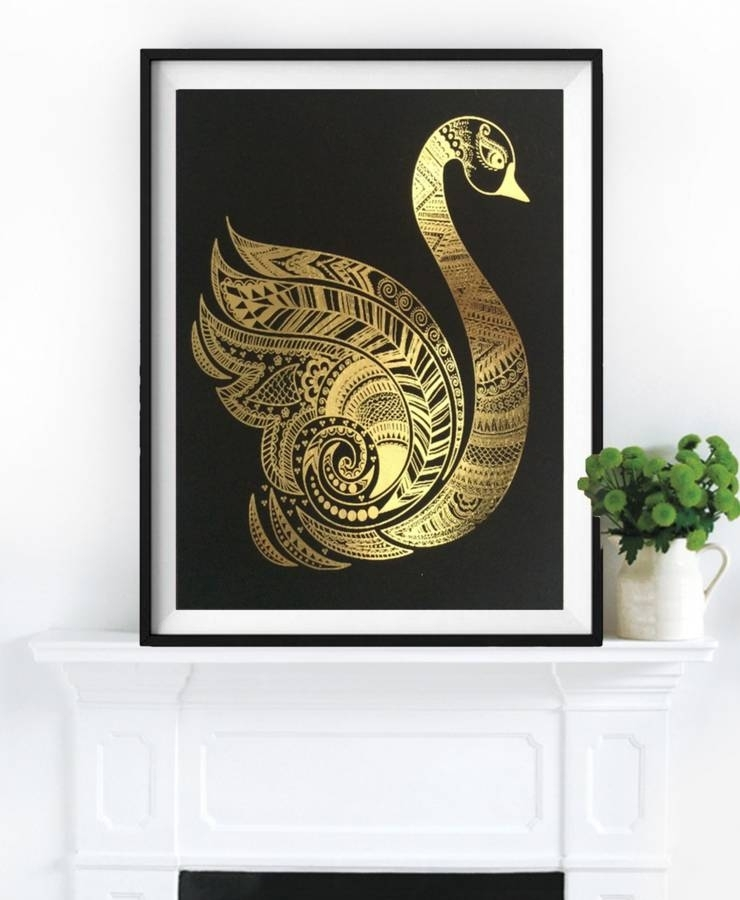 Grace, Gold Foil Framed Artpalm Valley | Notonthehighstreet Pertaining To Gold Foil Wall Art (Photo 10 of 10)
