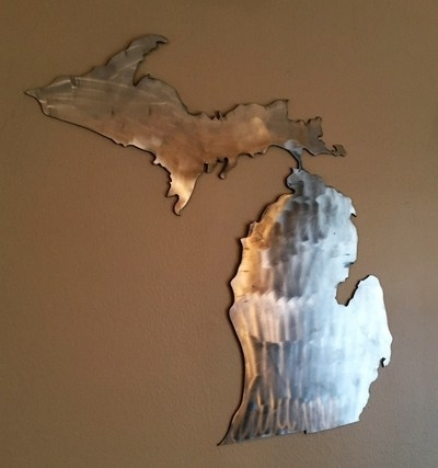 Great Lakes Design – Wood & Metal Art – Great Lakes Design With Michigan Wall Art (View 10 of 10)