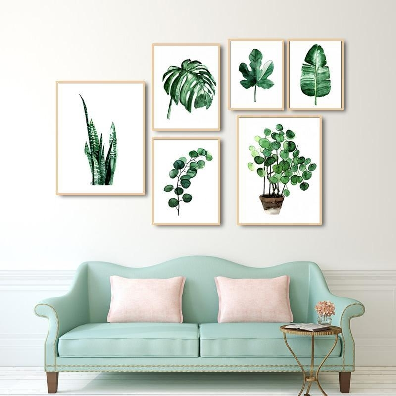 Green Leaves Canvas Prints | Products | Pinterest | Framing Canvas Throughout Wall Art Prints (Image 8 of 10)