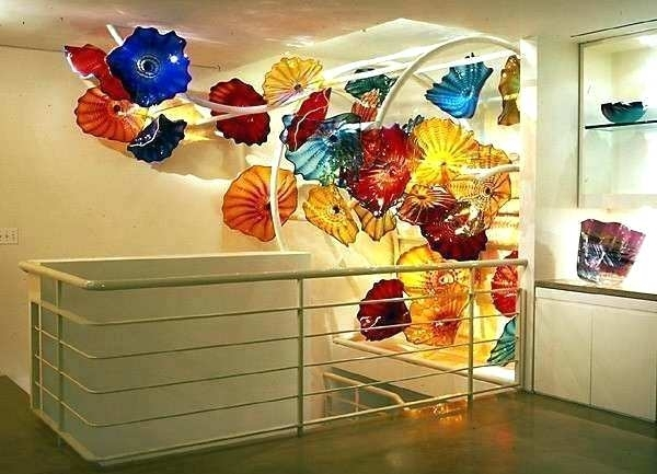 Hand Blown Glass Plates Glass Plates Wall Art Plates Wall Art Modern Within Glass Plate Wall Art (Photo 6 of 10)