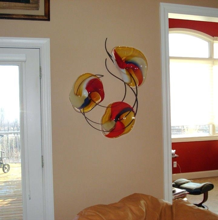 Hand Blown Glass Wall Decor (Image 7 of 10)