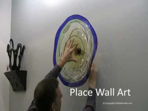 Hand Blown Wall Art Glass Plate Install From 1020 Glass Art – Youtube Regarding Glass Plate Wall Art (Image 6 of 10)