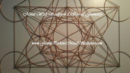 Hand Crafted Geometric Metal Wall Sculpture / Metal Wall Art Regarding Geometric Metal Wall Art (Image 3 of 10)