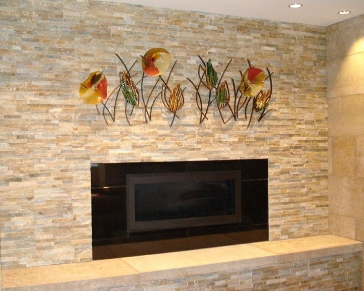 Hand Made Blown Glass, Fused Glass And Metal Wall Artbonnie M With Blown Glass Wall Art (Image 8 of 10)