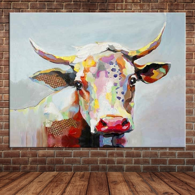 Featured Image of Cow Canvas Wall Art