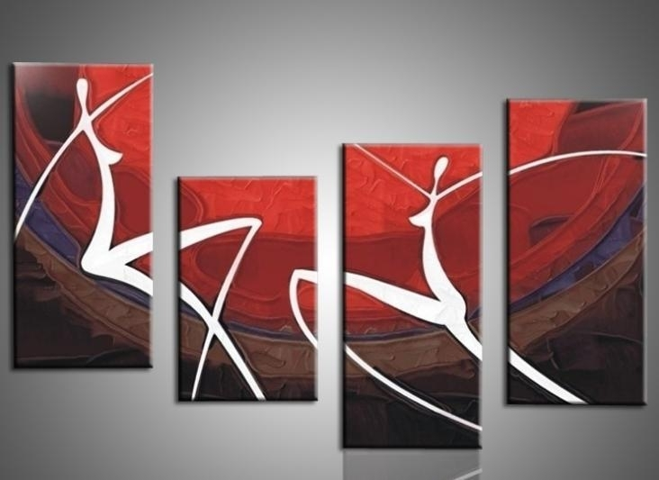 Hand Painted Oil Painting Elegant Modern Canvas Art For Wall Decor Intended For Modern Abstract Painting Wall Art (Photo 5 of 10)