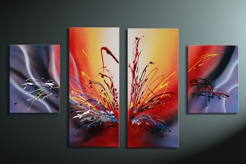 Hand Painted Oil Wall Art Warm Color The Sunset Home Decoration For Modern Abstract Painting Wall Art (View 6 of 10)