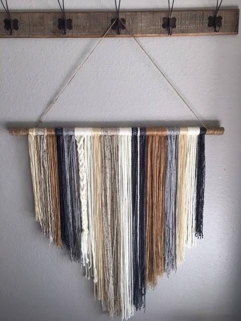 Handcrafted Yarn Wall Hanging Boho Wall Hanging Yarn Wall | Etsy With Regard To Yarn Wall Art (Image 6 of 10)