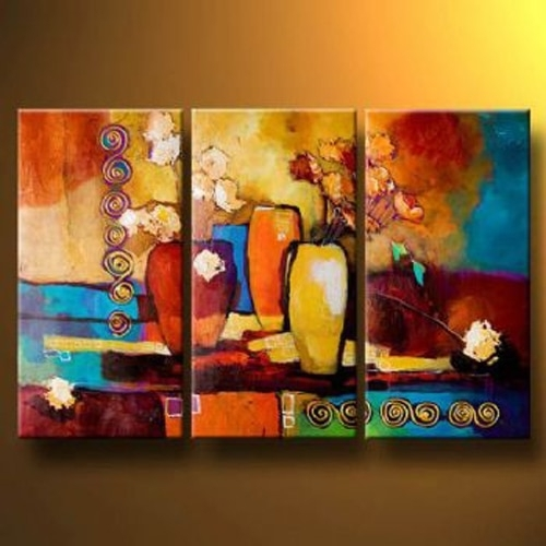 Handmade Oil Painting Canvas Modern Paintings Wall Decor Abstract For Modern Painting Canvas Wall Art (Photo 3 of 10)