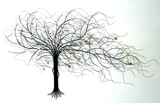 Hanging Metal Art Metal Tree Wall Hanging Metal Tree Wall Art Dead With Metal Tree Wall Art (View 9 of 10)