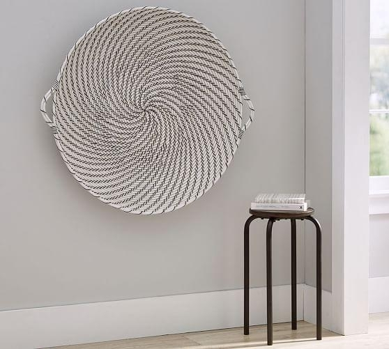 Hapao Black And White Basket Wall Art With Round Wall Art (Image 3 of 10)