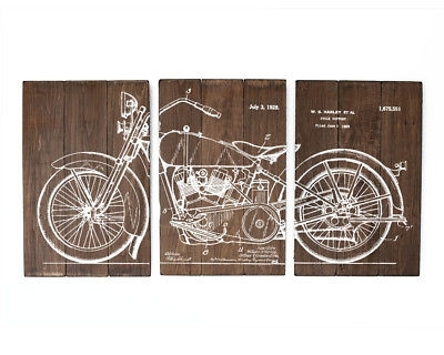 Harley Davidson Large Wall Art Wood Sign – $ (Image 2 of 10)