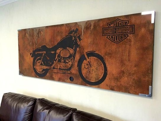 Harley Davidson Wall Art Harley Davidson Canvas Art Father S Day Pertaining To Harley Davidson Wall Art (Image 5 of 10)