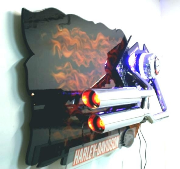 Harley Davidson Wall Mirrors Wall Mirrors Medium Size Of Wrought Regarding Harley Davidson Wall Art (Image 6 of 10)