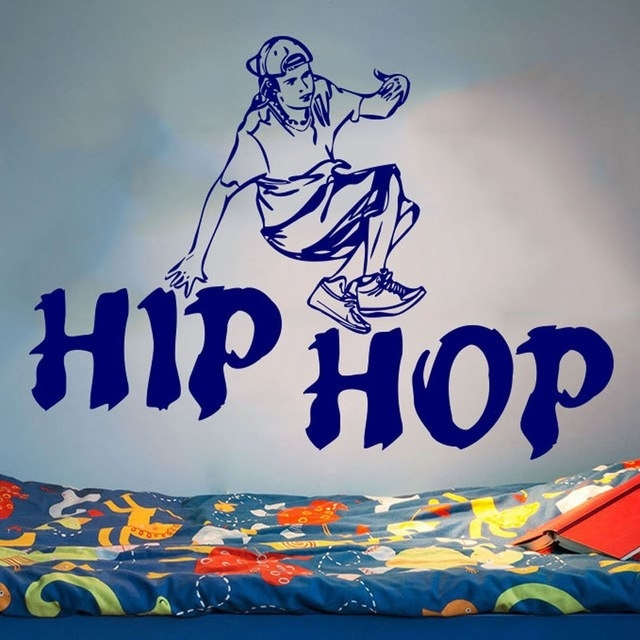 Hip Hop Wall Decals Removable Vinyl Wall Stickers For Kids Room Boy With Regard To Hip Hop Wall Art (Image 5 of 10)