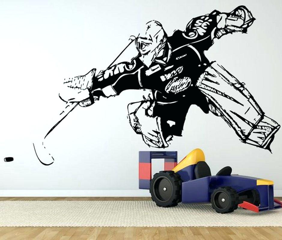 Hockey Wall Decals Canada Hockey Player 3 Wall Decal Great Sports Intended For Hockey Wall Art (Photo 8 of 10)