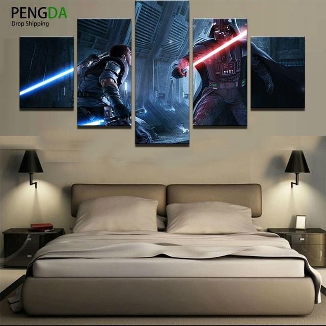 Home Decor Print Canvas Oil Painting Vintage Wall Art Canvas In Star Wars Wall Art (View 3 of 10)