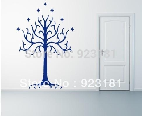 Home Decor Wall Sticker Lotr Lord Of The Rings White Tree Of Gondor Throughout Lord Of The Rings Wall Art (Image 3 of 10)
