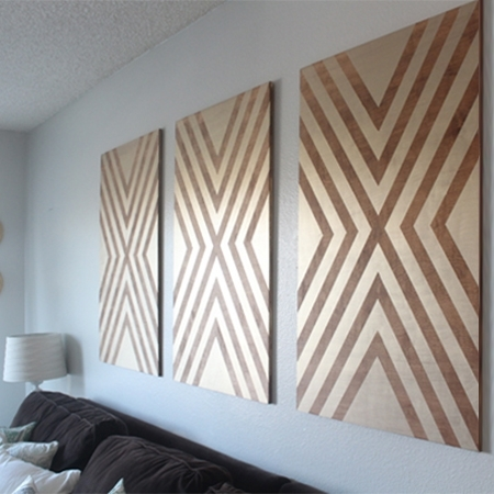 Home Dzine Home Decor | Make Your Own Chevron Wall Art In Chevron Wall Art (Image 6 of 10)
