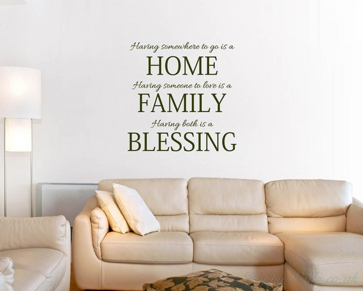 Home Family Blessing Quotes Wall Art Stickers For Quote Wall Art (Photo 7 of 10)