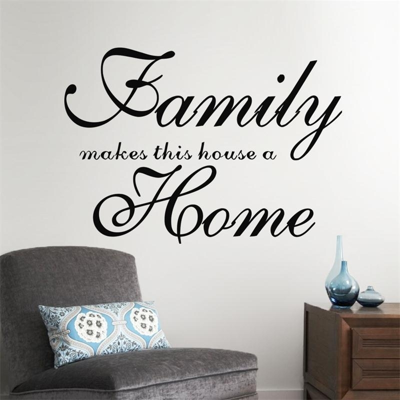 Home Garden Family Wall Art Quote Wall Sticker Vinyl Decal Home Art Within Family Wall Art (Image 6 of 10)