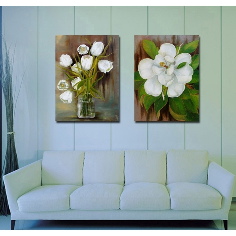 Home Goods Wall Art Flower Canvas Painting Printing Decorative Living Regarding Home Goods Wall Art (Image 5 of 10)