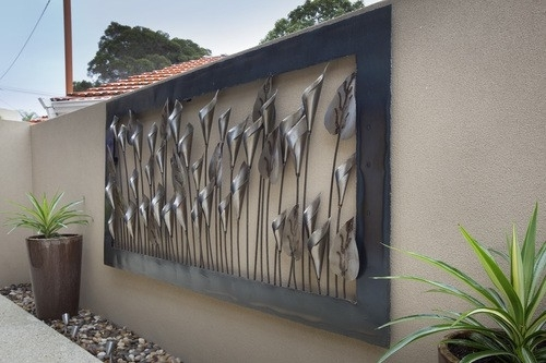 Home Outdoor Metal Wall Art | Amepac Furniture Within Outdoor Metal Wall Art (Image 3 of 10)