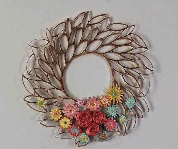 How To Diy Toilet Paper Roll Flower Wall Art With Regard To Toilet Paper Roll Wall Art (Photo 10 of 10)