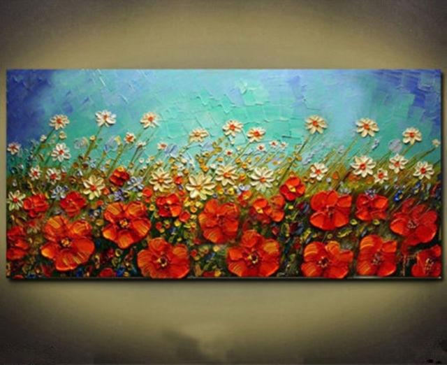 """Huge Modern Abstract Wall Decor Art Oil Painting Canvas """"No Frame Within Modern Painting Canvas Wall Art (View 6 of 10)"""