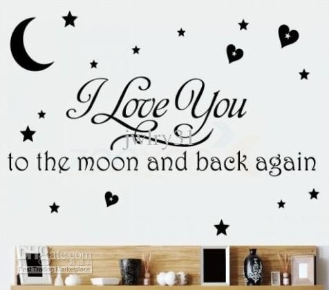 I Love You To The Moon And Back Again/wall Quote Decal Removable With Regard To I Love You To The Moon And Back Wall Art (Photo 5 of 10)