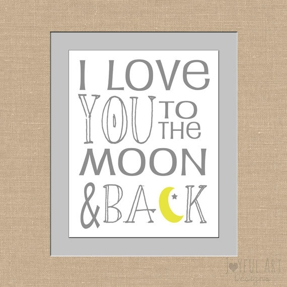 I Love You To The Moon And Back Subway Art Children's Printable Intended For I Love You To The Moon And Back Wall Art (Photo 7 of 10)