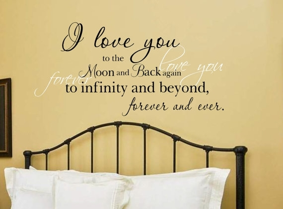 I Love You To The Moon And Back Vinyl Wall Decal | Etsy Intended For I Love You To The Moon And Back Wall Art (Photo 1 of 10)