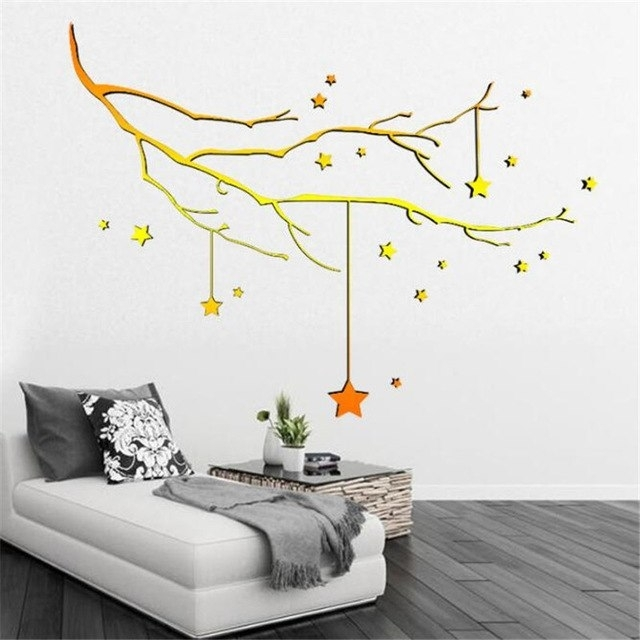 Idfiaf New Christmas Tree Stick Wall Art Decal Mural Home Room Decor With Stick On Wall Art (Image 4 of 10)