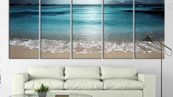 Impressive Wall Art Ideas Design Multi Large Beach Wall Art Classic Within Large Coastal Wall Art (Image 7 of 10)