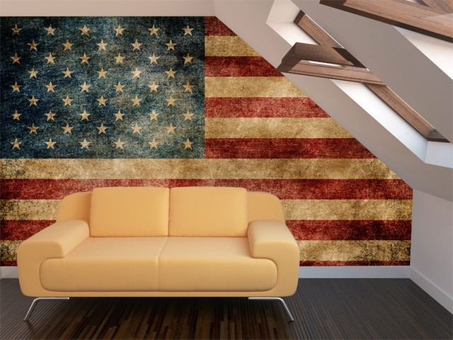 Incredible Ideas Vintage American Flag Wall Art Designing Home Mural Pertaining To Vintage American Flag Wall Art (View 2 of 10)
