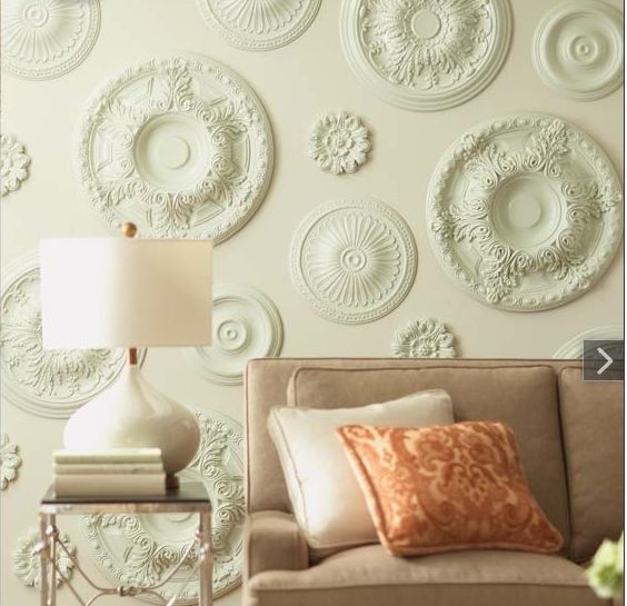 Inspirational Ceiling Medallion Wall Art 45 About Remodel Home Pertaining To Medallion Wall Art (Photo 8 of 10)