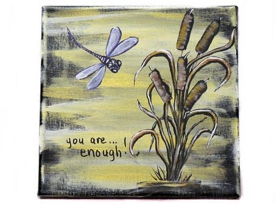 Inspirational Word Art Inspirational Wall Decor Dragonfly Inside Dragonfly Painting Wall Art (Image 8 of 10)