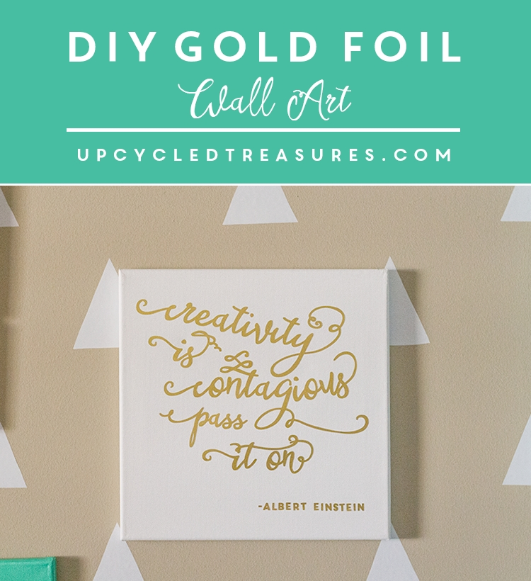 Inspiring Diy Gold Foil Wall Art | Mountainmodernlife Within Gold Foil Wall Art (Image 10 of 10)
