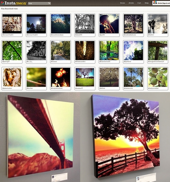 Instacanvas Turns Your Instagram Photos Into Sellable Wall Art With Instagram Wall Art (Image 6 of 10)