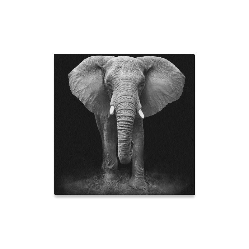 Interestprint Black And White Big Elephant Canvas Wall Art Print Within Elephant Canvas Wall Art (Photo 1 of 10)