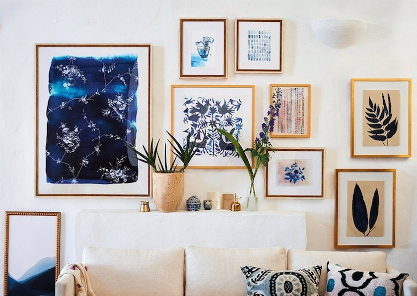 It's Here! The Ultimate Art Gallery Wall Hack (Aka: Template Within Anthropologie Wall Art (Image 7 of 10)
