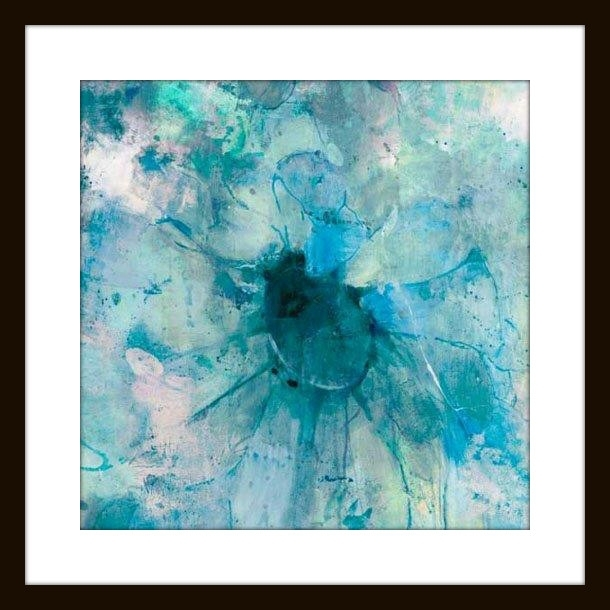 "Jill Martin ""teal"" Modern Wall Art – Modern – Artwork  Mantle In Teal Wall Art (Image 4 of 10)"
