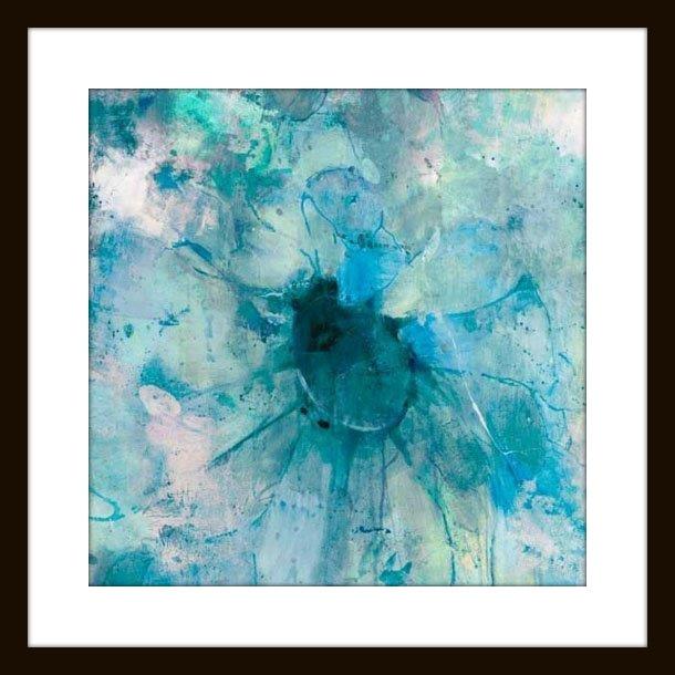 """Jill Martin """"teal"""" Modern Wall Art – Modern – Artwork Mantle In Teal Wall Art (Photo 9 of 10)"""