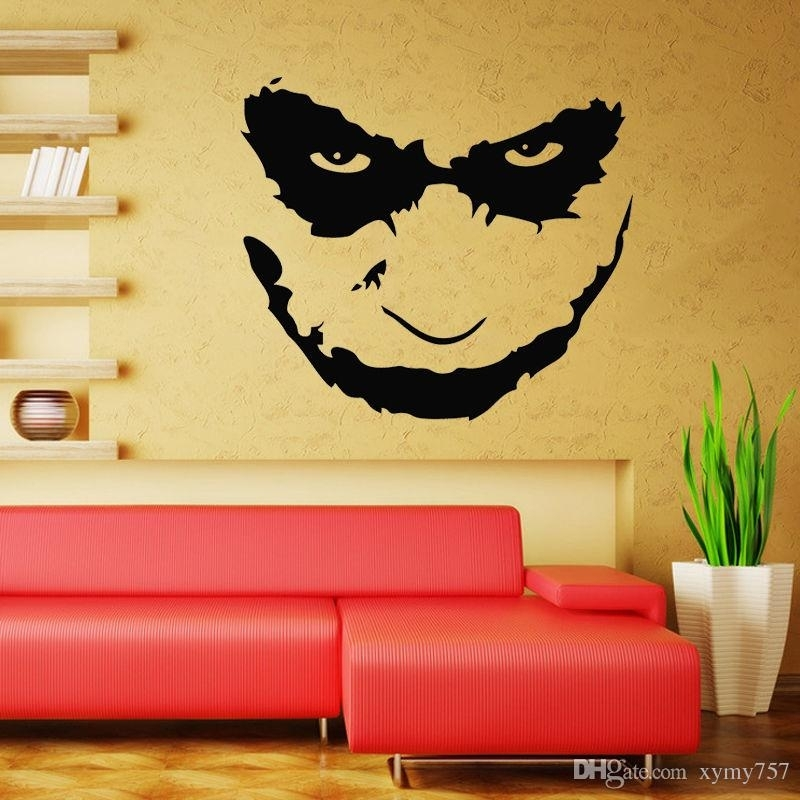 Joker Heath Ledger Wall Decal Art Iconic Vinyl Wall Decals Stickers Regarding Joker Wall Art (Image 3 of 10)