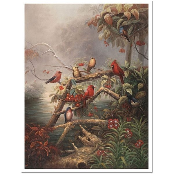 Joval 'birds' Framed Canvas Art ($95) ❤ Liked On Polyvore Featuring Inside Bird Framed Canvas Wall Art (Image 6 of 10)