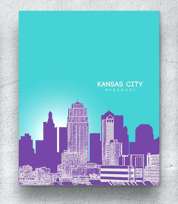 Kansas City Skyline Art Zoom – 3Lancers (Image 5 of 10)