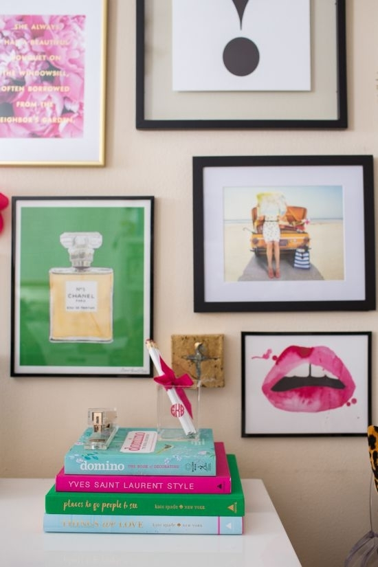 Kate Spade Gallery Wall | Chanel Print, Gallery Wall And Walls Pertaining To Kate Spade Wall Art (View 4 of 10)